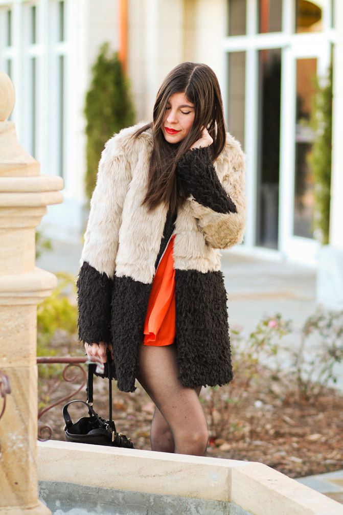Alexander Wang Diego bag, Ombre Faux Fur coat, Topshop Ambush Boots, Asos, fashion outfit,
