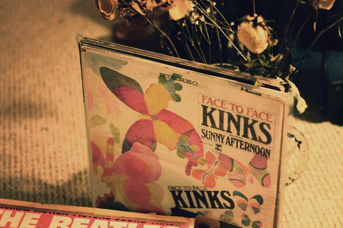 Beatles records, the Kinks, Fashion, Music