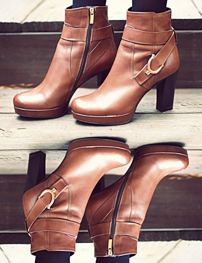 Brown Leather Ankle Boots, La Canadienne Shoes, Fashion