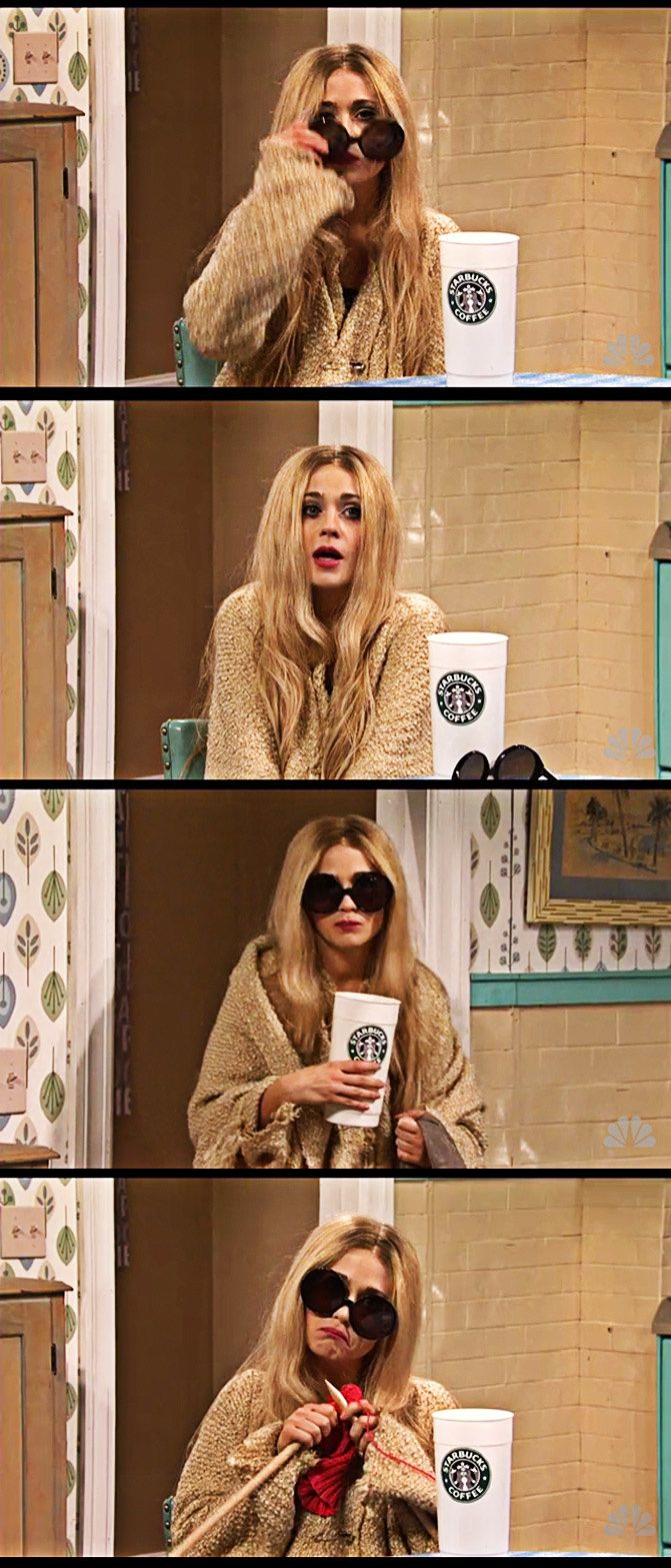 Zooey Deschanel on SNL as Mary Kate Olsen, Fashion