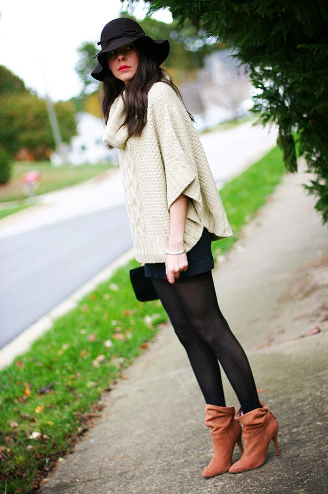 Winter Fashion Outfit, Cowl Neck, Cable Knit, Pull Me Pumps