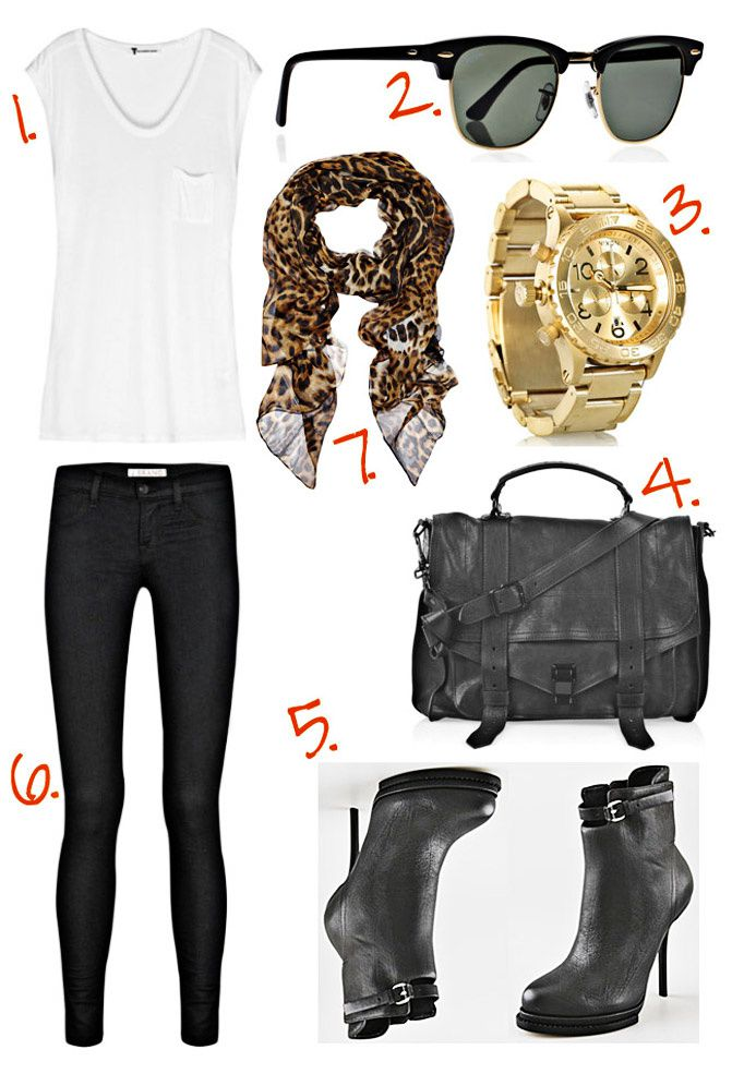 Yves Saint Laurent, Proenza Schouler, Alexander Wang, Gold Nixon Watch, Fashion Outfit