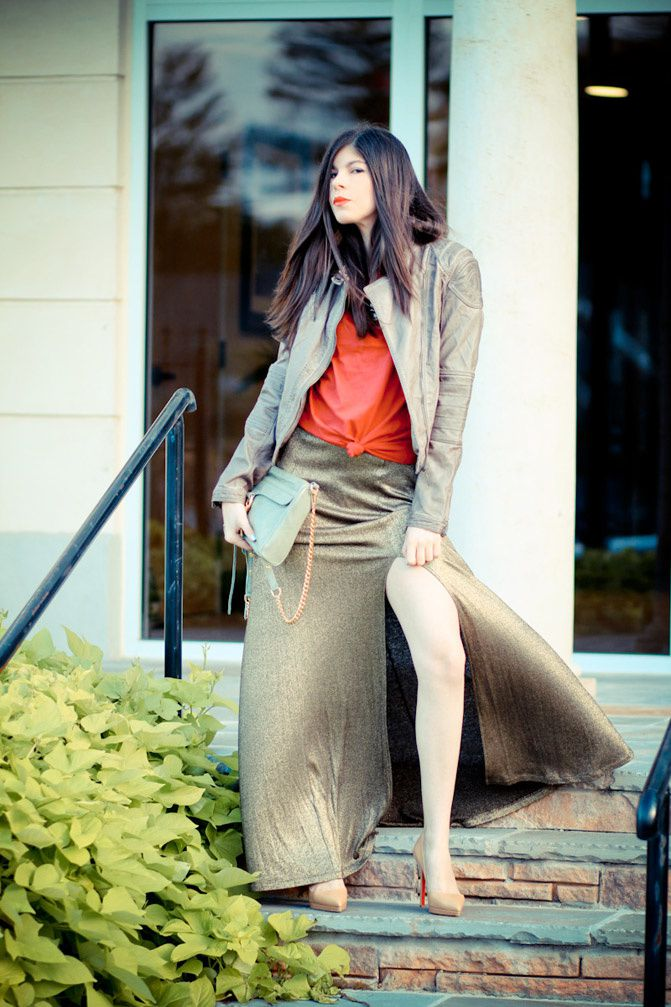 gold maxi dress, christian louboutin pigalle heels, fashion outfit, rebecca minkoff mac bag