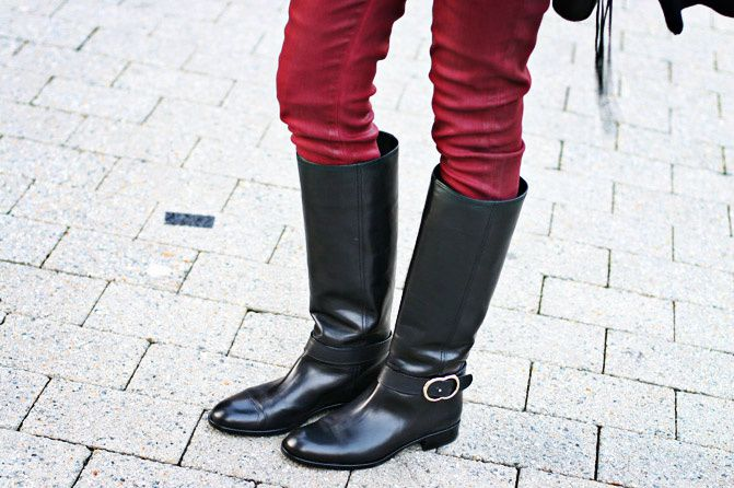 Riding Boots, Asos, Batwing Sweater, Hudson skinny jeans, Fashion Outfit