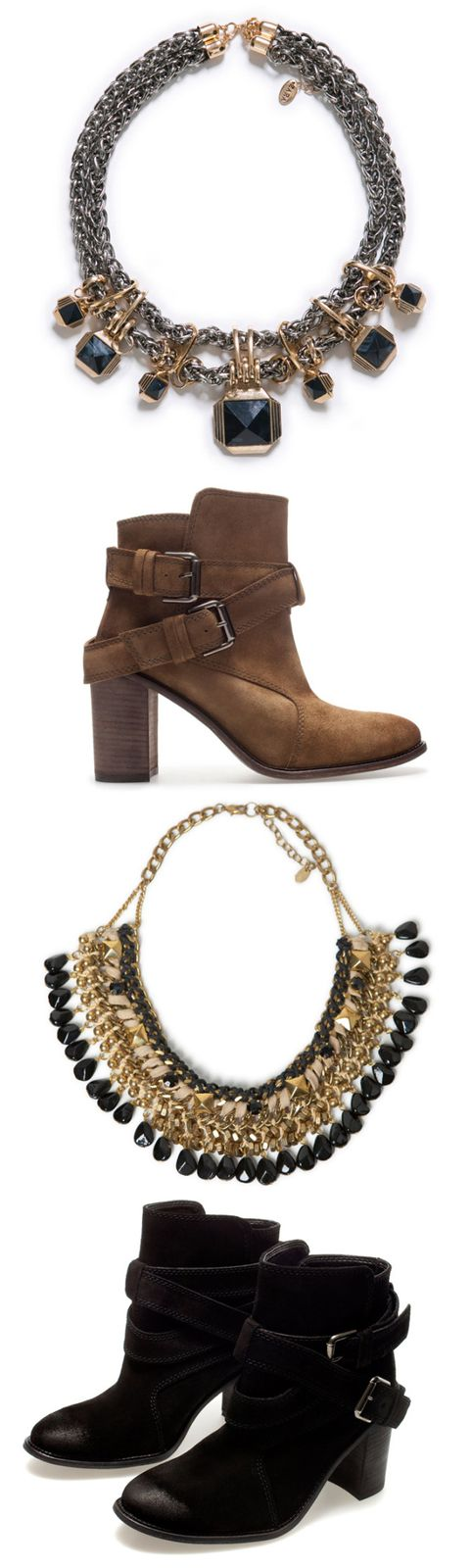 """NEW IN"" Zara Ankle Boots and Statement Necklaces"