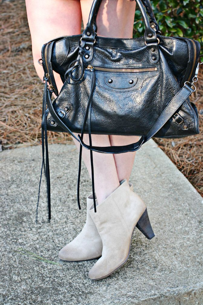 balenciaga classic city, nine west vasammy ankle boots, fashion