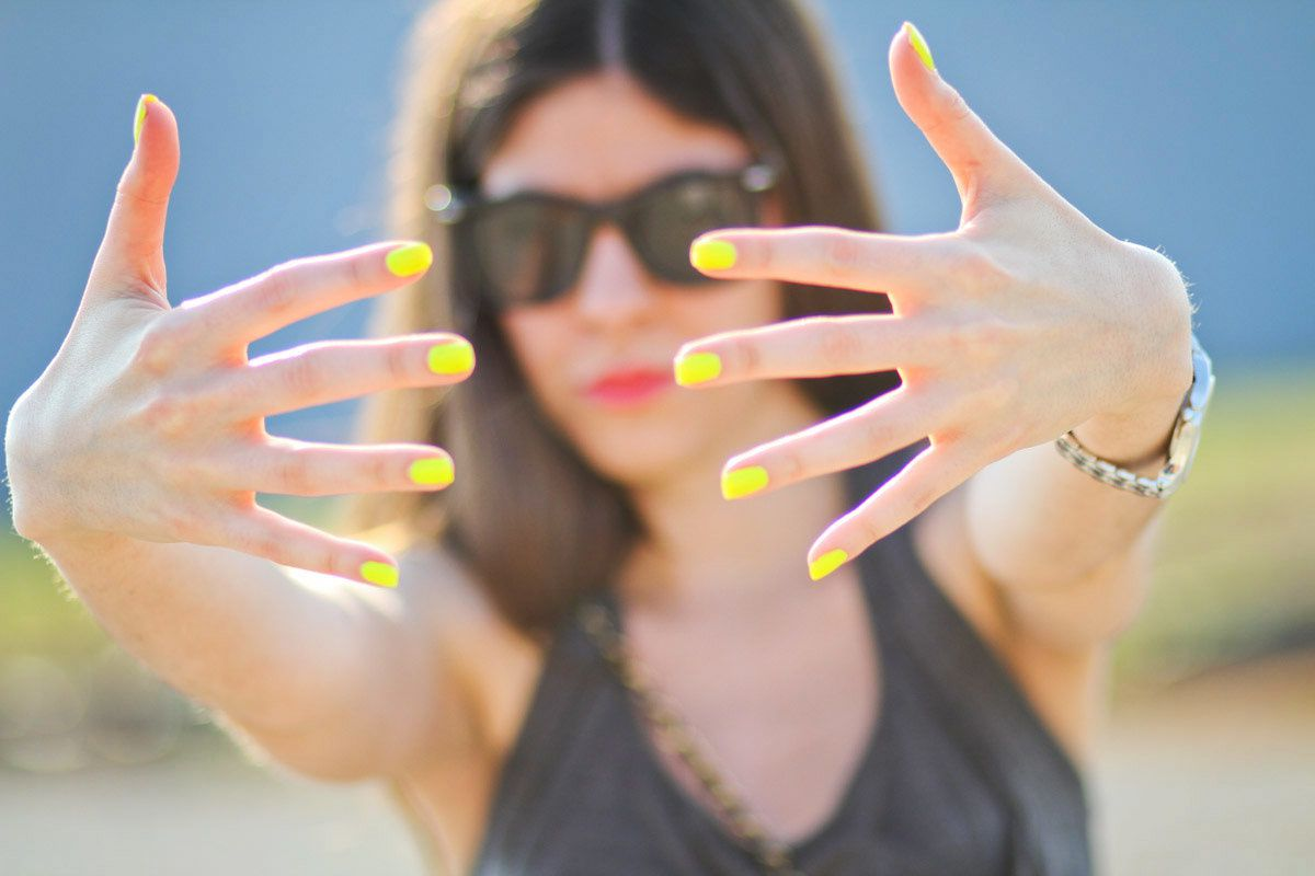Neon Nail Polish, American Apparel