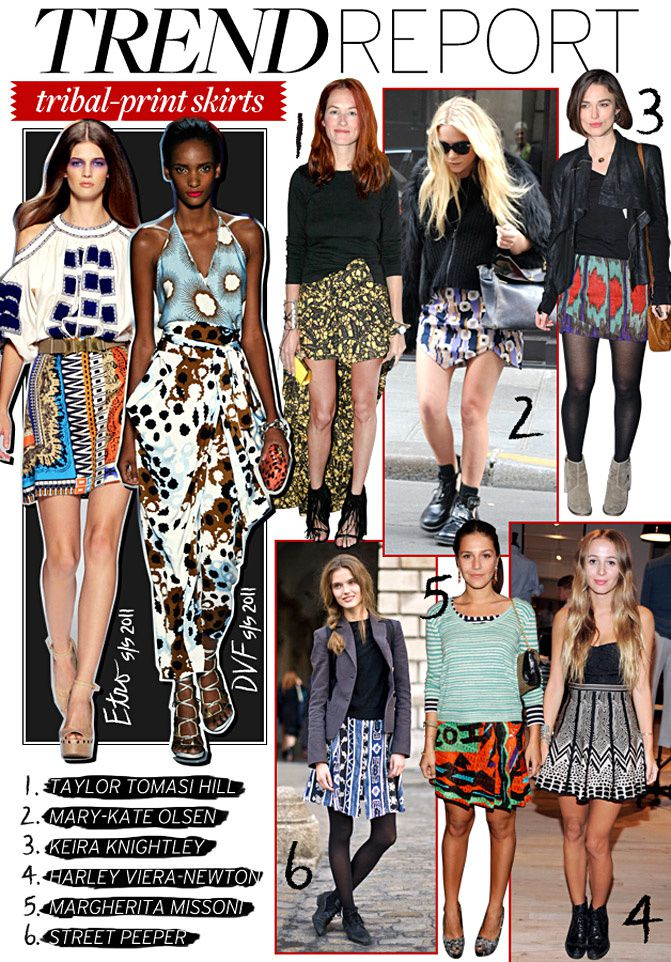 Tribal Print Fashion, Mary Kate Olsen, Style inspiration