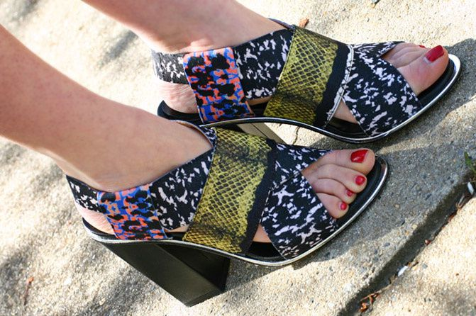 Zara tribal print wedge sandals