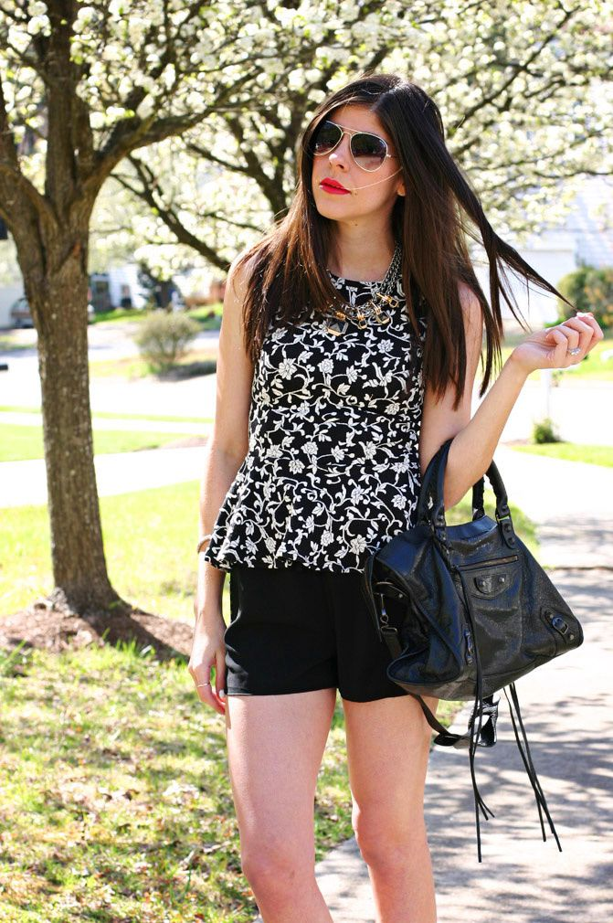 Peplum Florals and Short Shorts