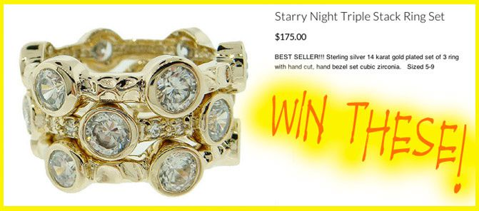 """GIVEAWAY"" Stackable Starry Night Rings"