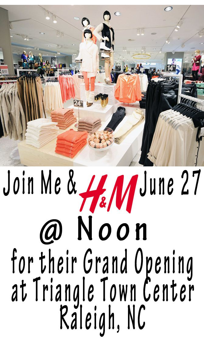 h&m grand opening in raleigh, nc, fashion, giveaway, h&m gift card giveaway