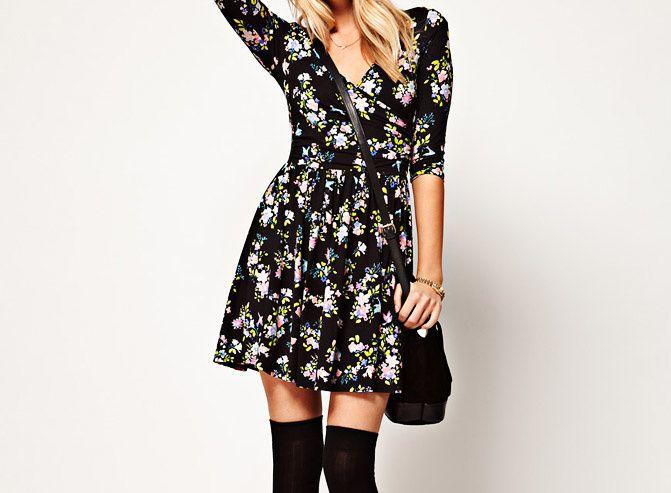 asos floral dress, DIY dress, wrap dress, fashion