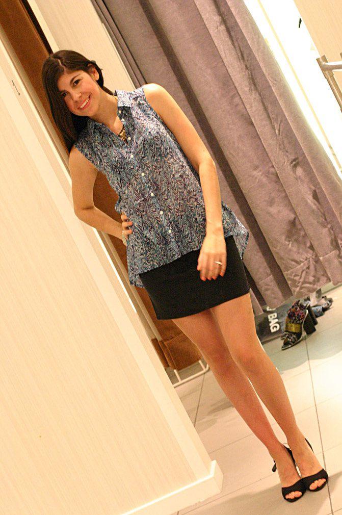 H&M blouse, H&M heels, fashionchalet