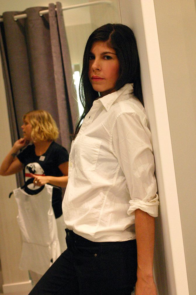 H&M blouse, white shirt, fashion, outfit, black topshop skinny jeans