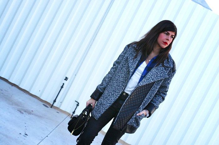 Mango Oversize Coat and Plaid