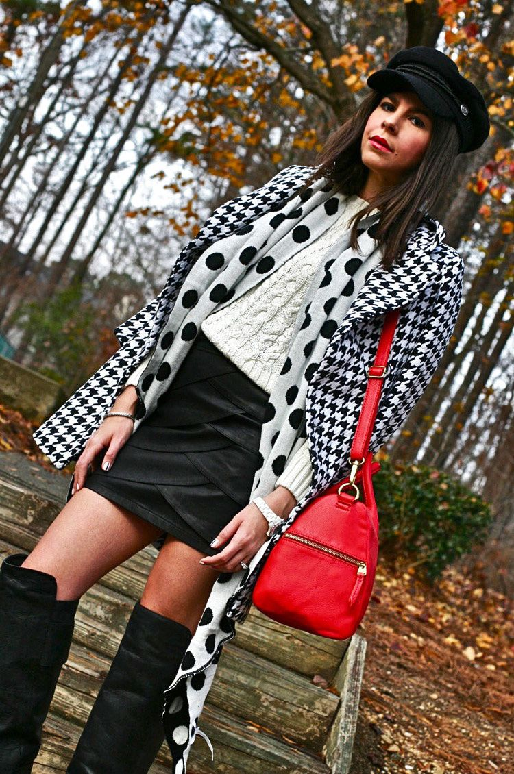 d62e85d56d7 Houndstooth Coat - Fashion Chalet by Erika Marie