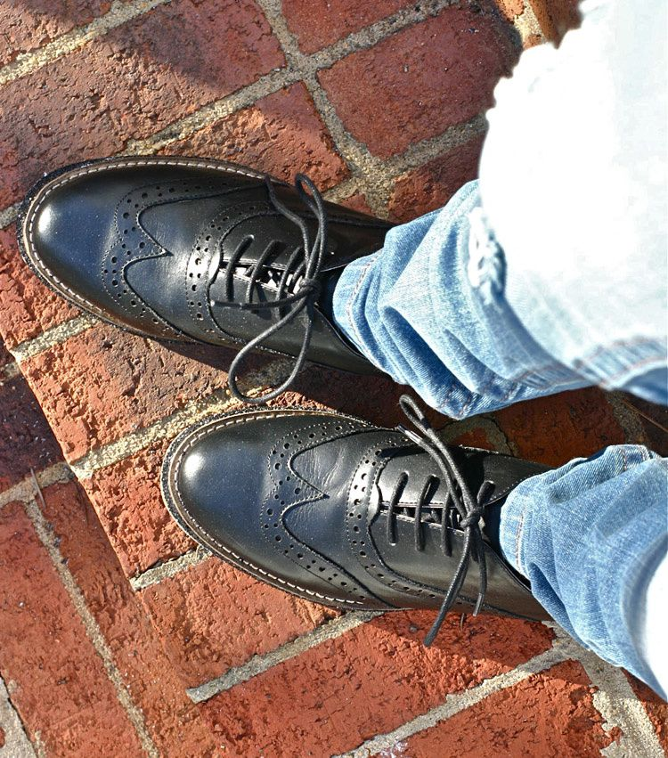 &quot&#x3B;NEW IN&quot&#x3B; Chaplin Oxfords in Black