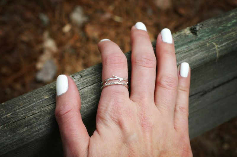 Sterling Silver Twig Ring