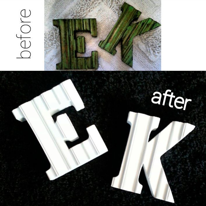 "Before and After DIY ""Wooden Letters"""