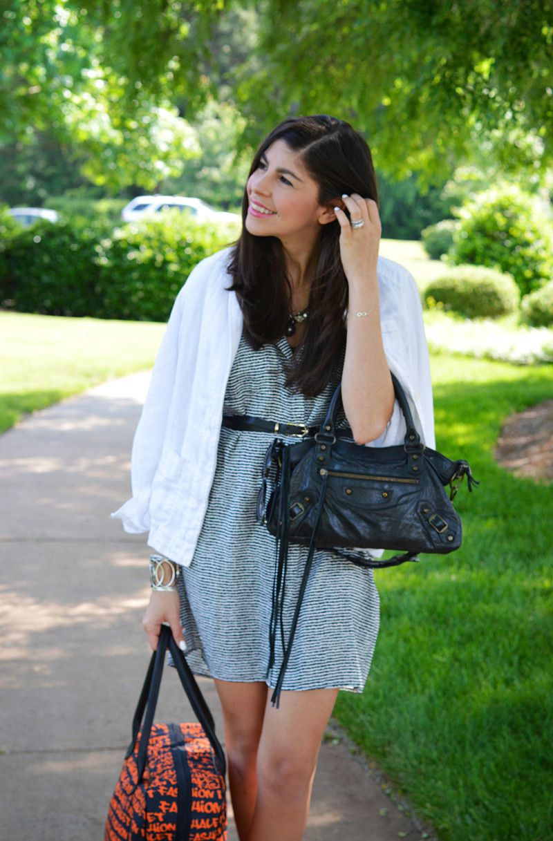 Little Black and White Shirtdress