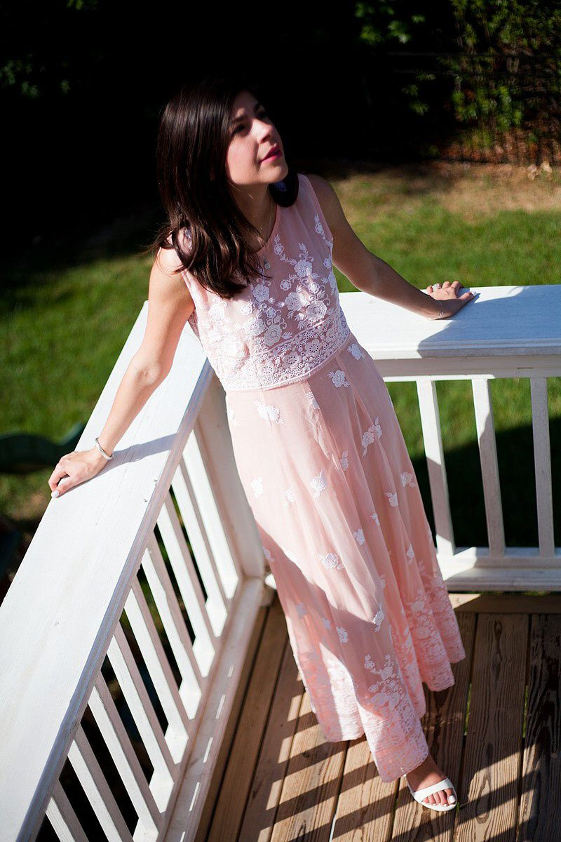 Sheer Pink Maxi Dress