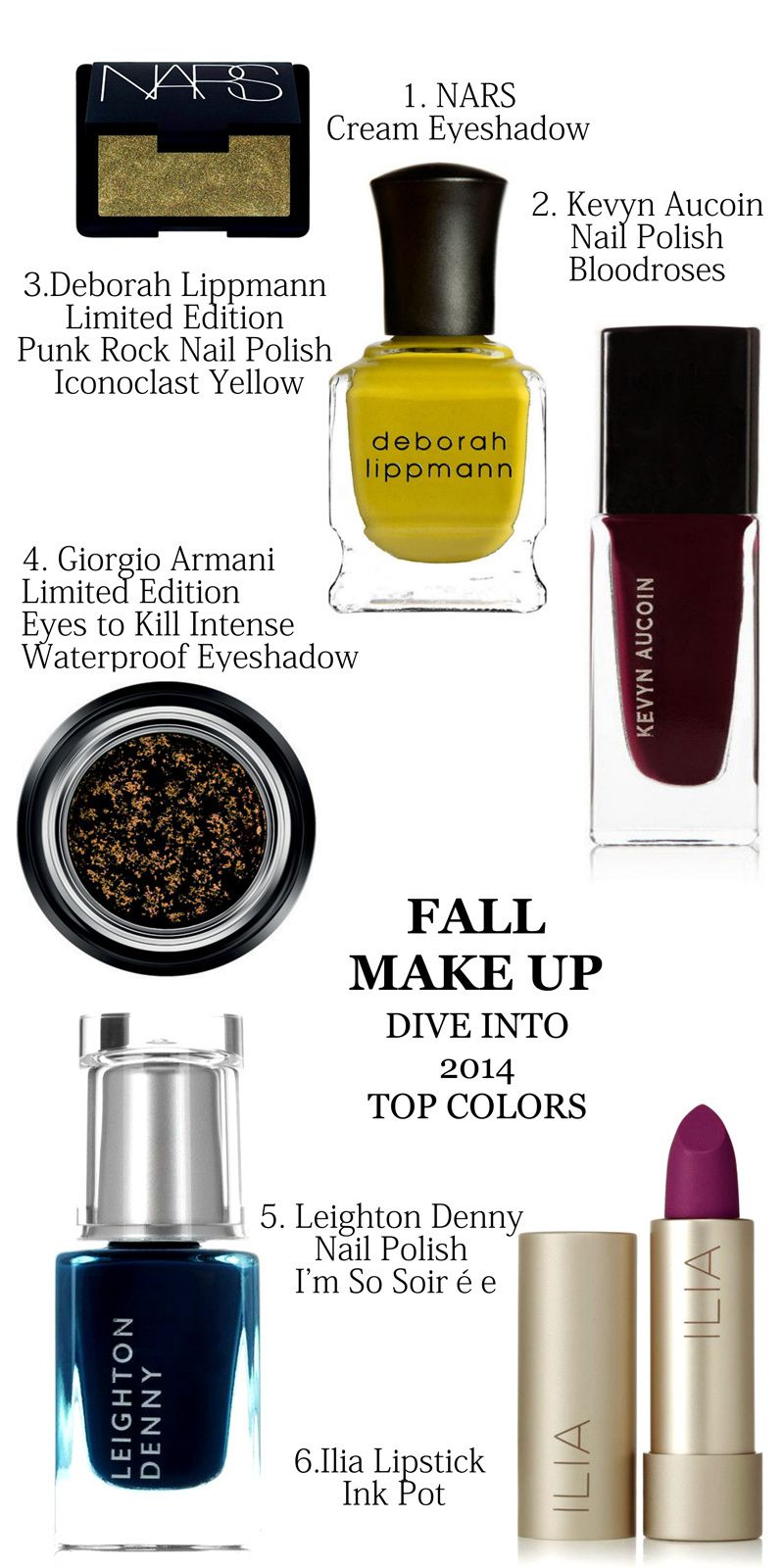 {SHOPPING GUIDE} FALL MAKEUP 2014