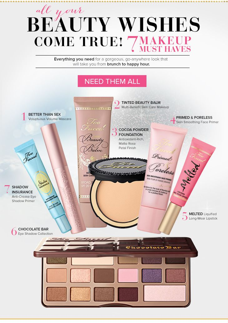 TOO FACED {7 MAKEUP MUST HAVES}