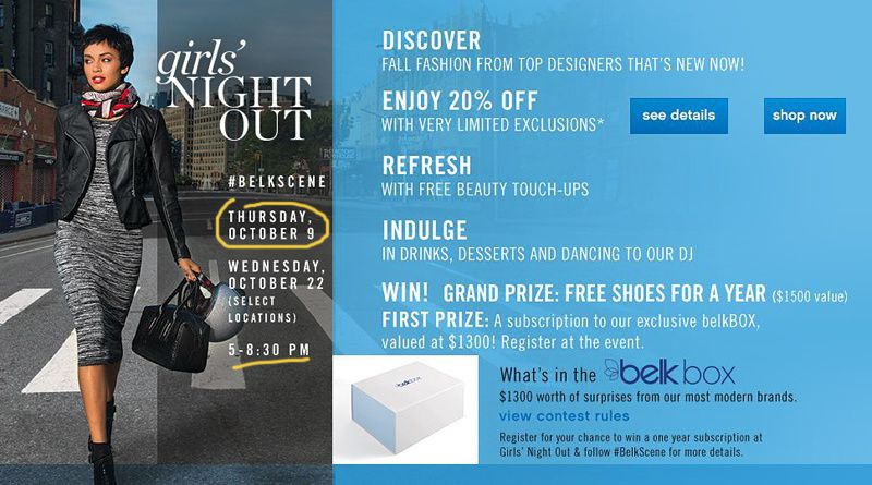 GIRL'S NIGHT OUT With BELK Raleigh