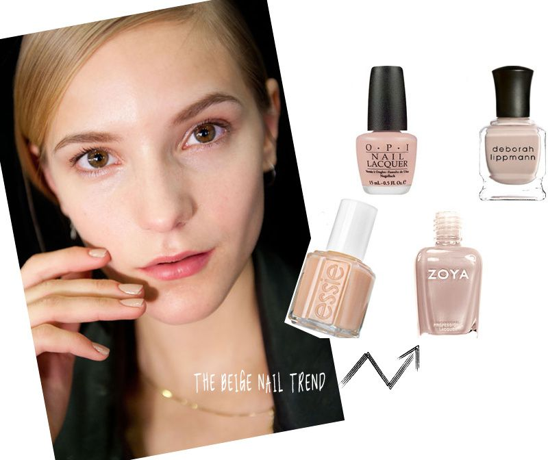 LATEST TREND IN NAIL POLISH: BEIGE NAILS