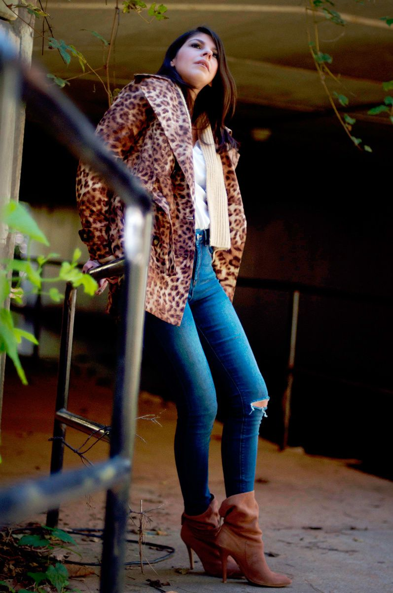 LEOPARD PRINT TRENCH