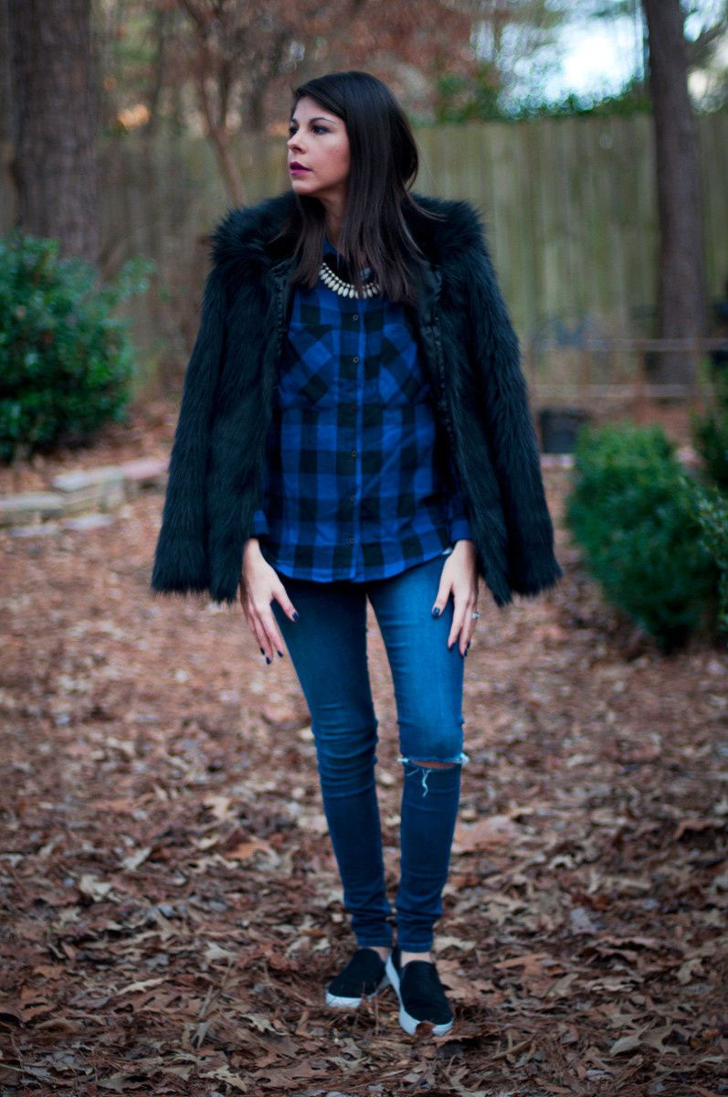 Black and Blue Plaid Flannel