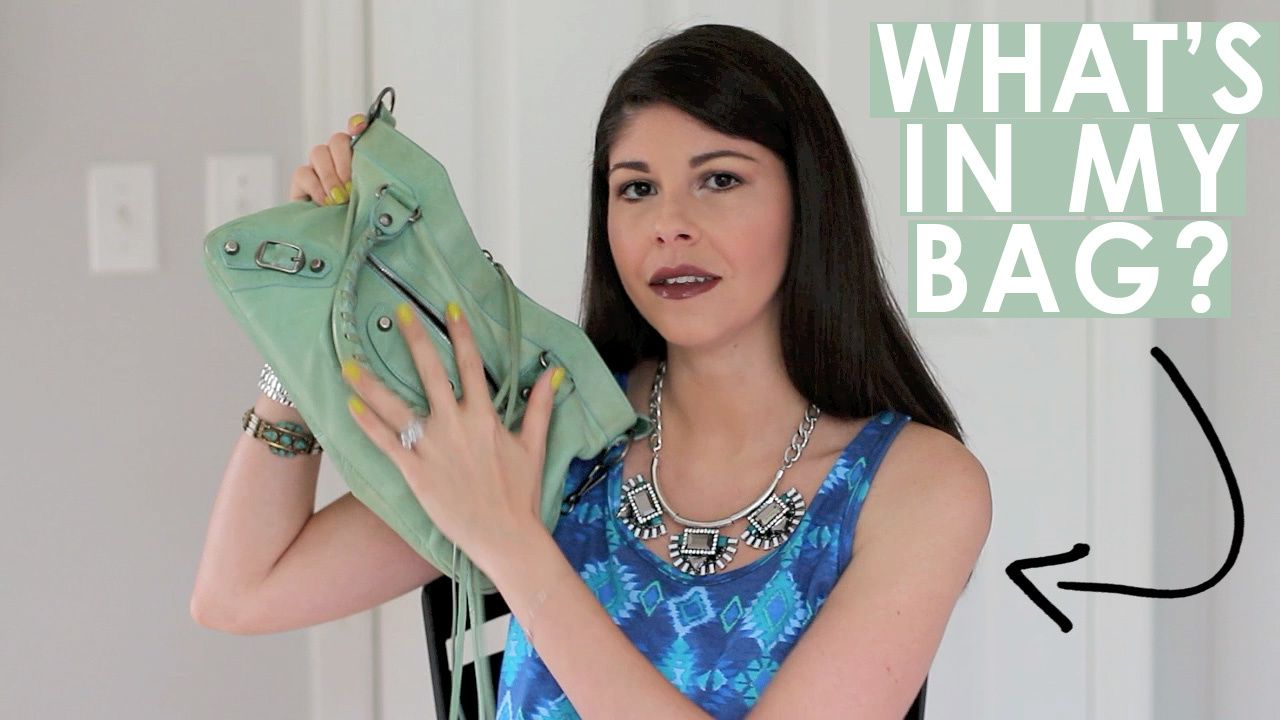 What's Inside My Balenciaga Bag? | TAG!