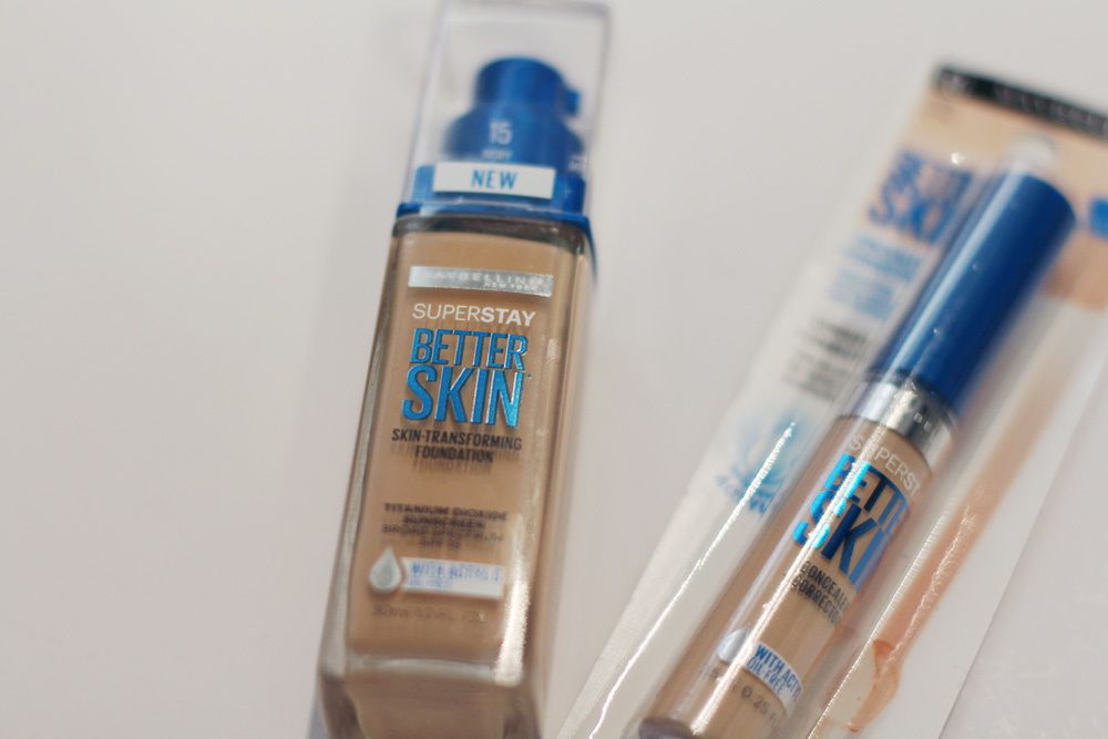 SPOTTED! Maybelline SuperStay Better Skin Foundation &amp&#x3B; Concealer