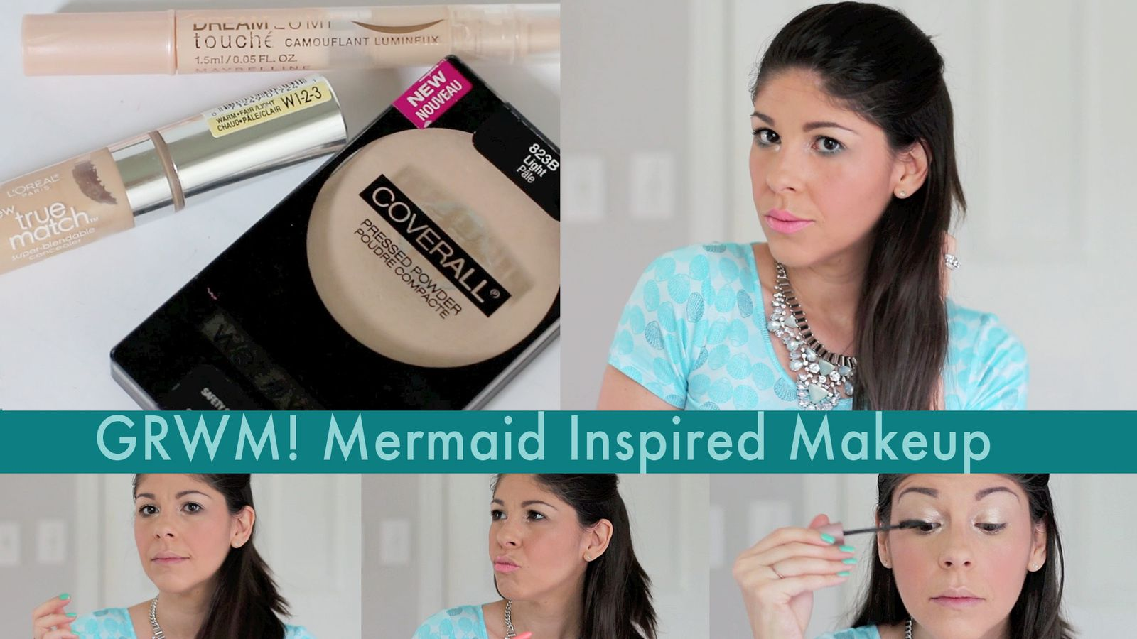 GRWM | Easy Summer Mermaid Inspired Makeup