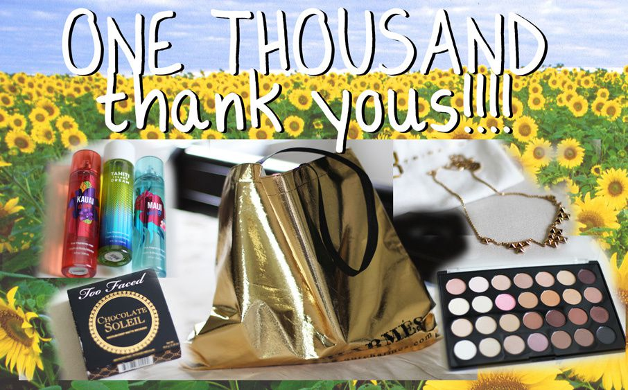 One Thousand Thank You's!