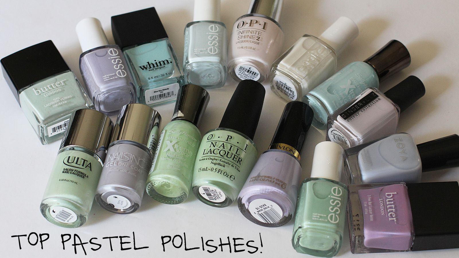 Top Pastel Polishes! Essie, OPI, Whim, Butter London & More!