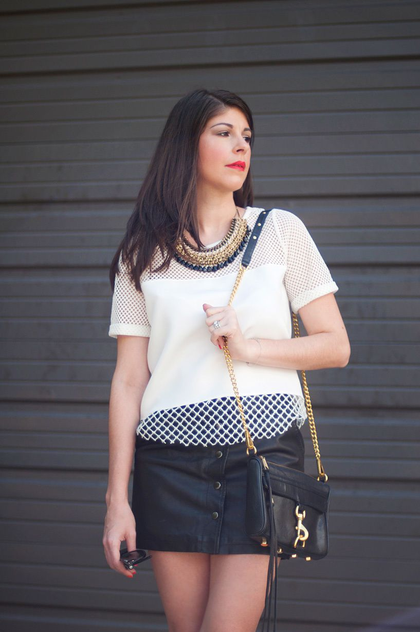 OOTD | Black and White Color Blocking