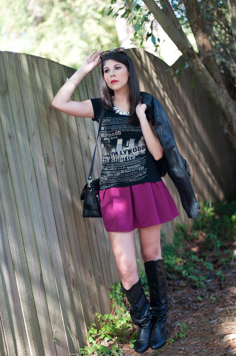 OOTD | Pleated Skirt and Pirate Boots