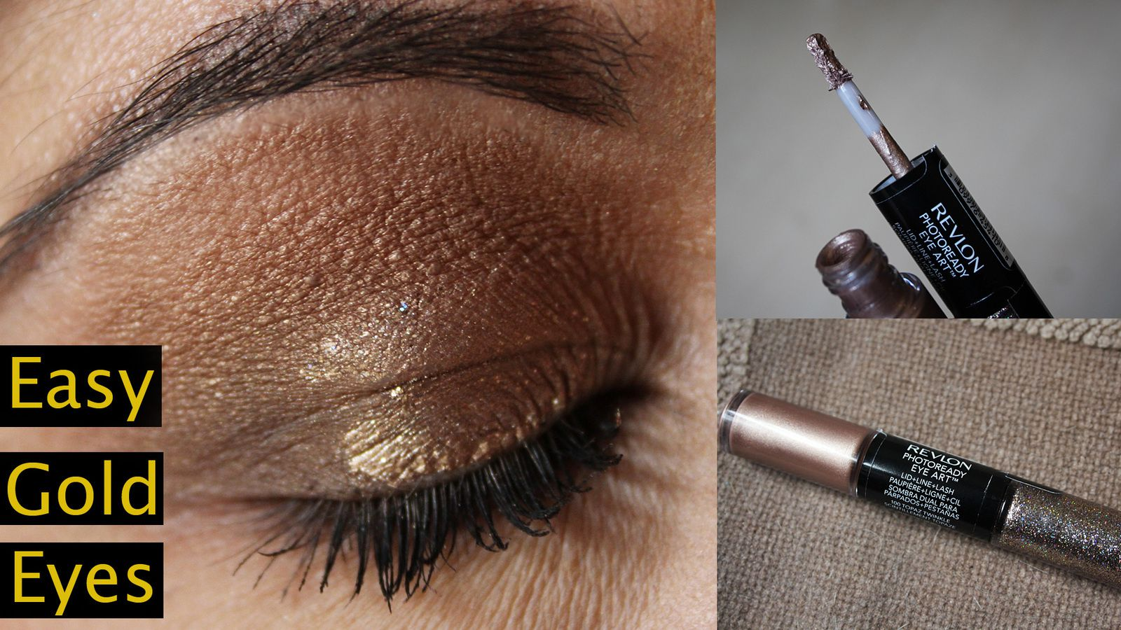 Easy Gold Eye Look in 5 Minutes!