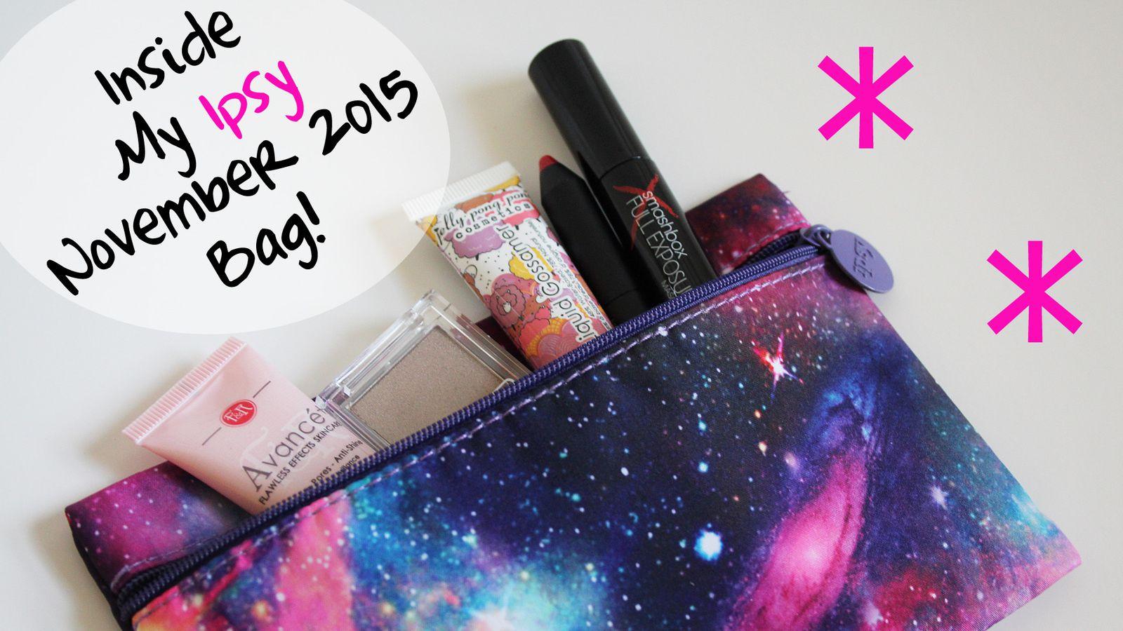 Peek Inside my Ipsy November 2015 Bag!