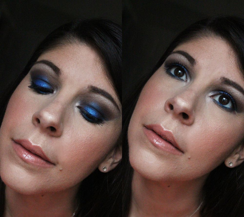 Morphe 35D - Deep Blue Eye Look