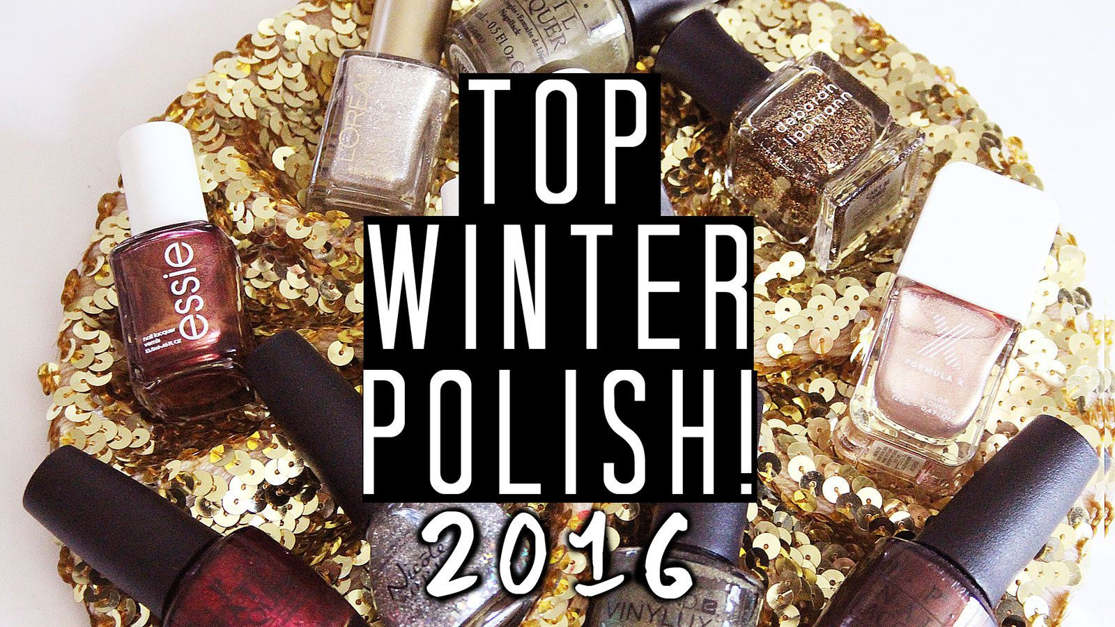 Top Winter Glitter and Shimmer Nail Polish Picks! 2016