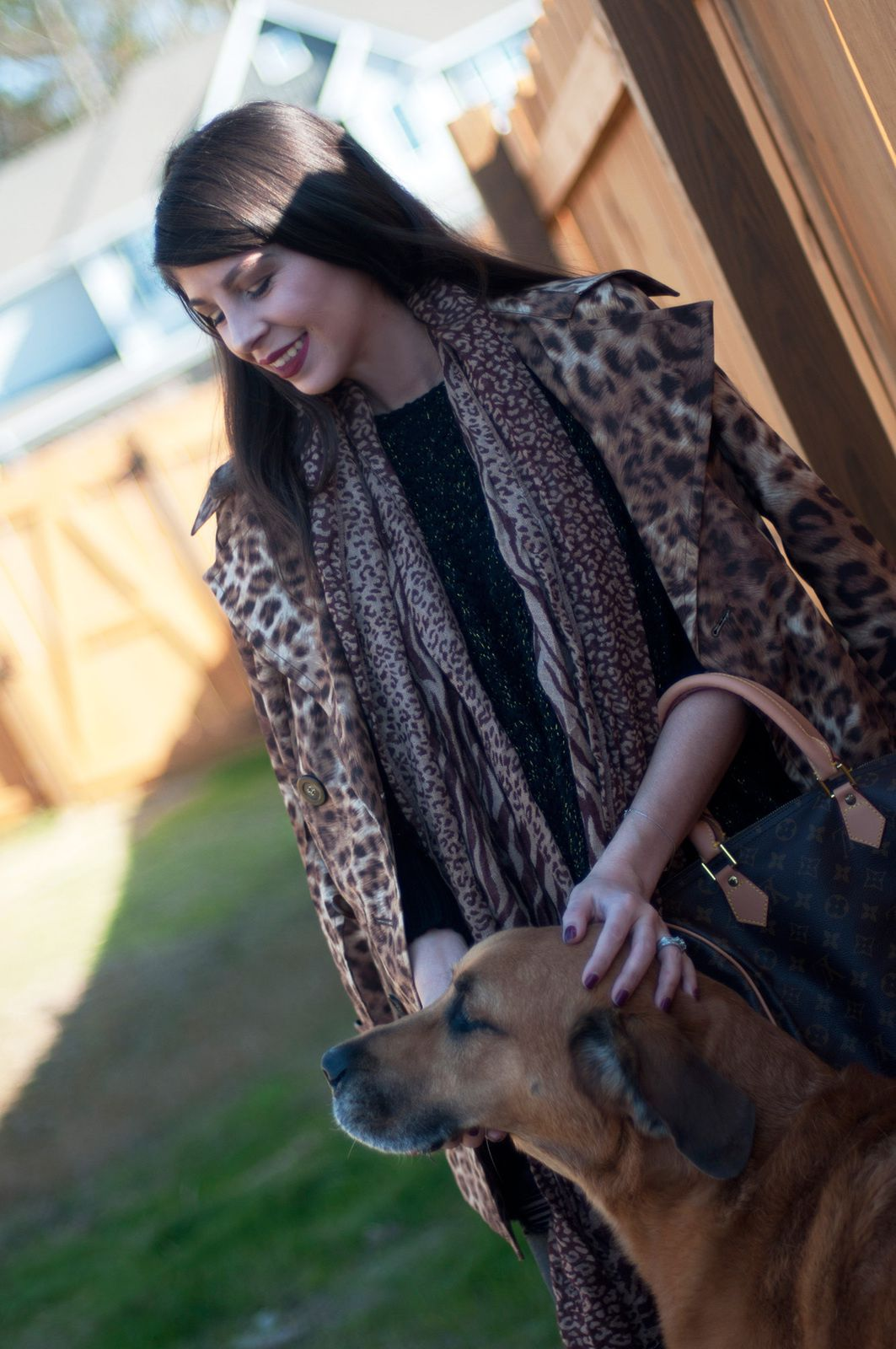 Leopard Trench Coat &amp&#x3B; Riding Boots