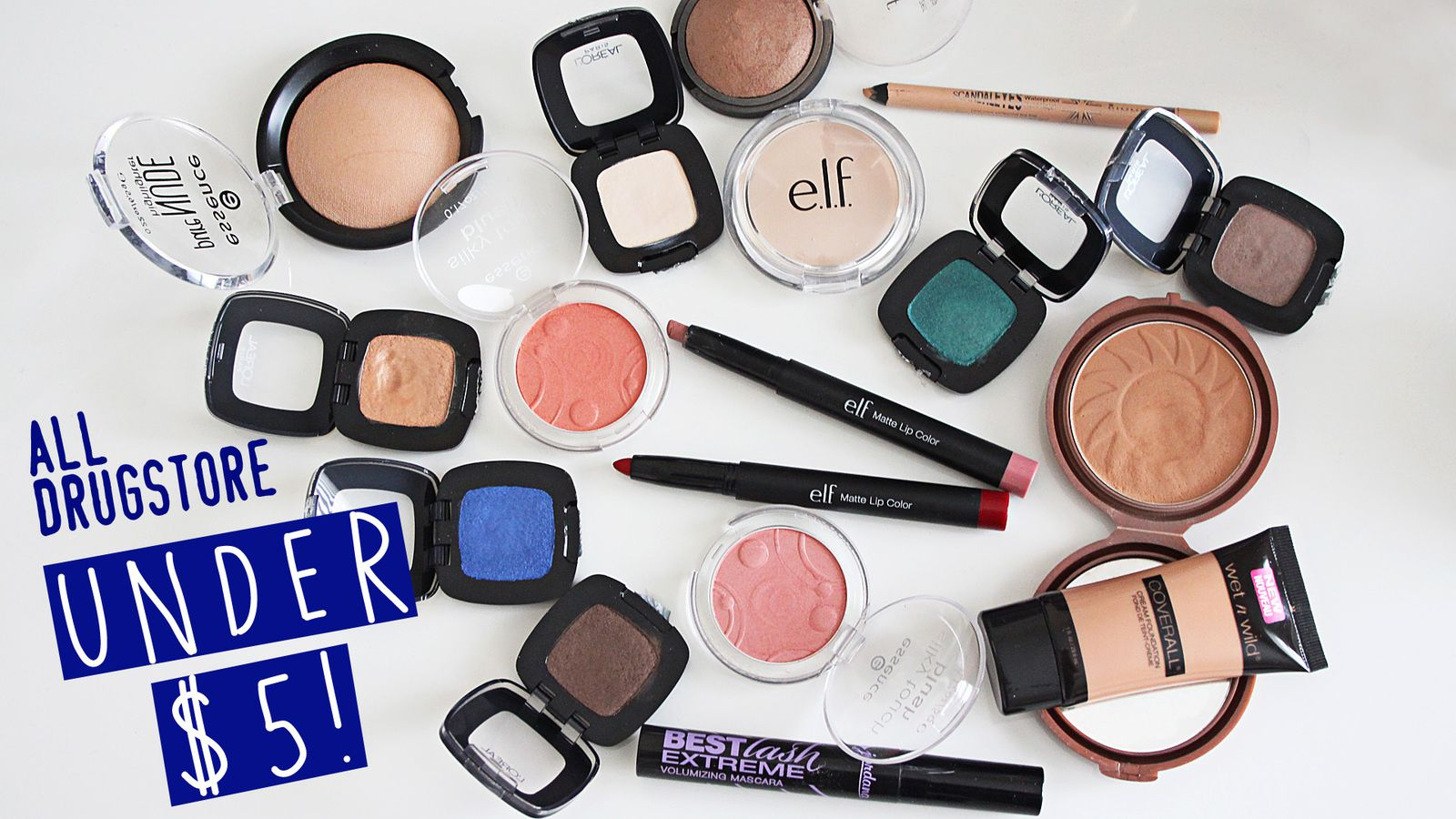 BEST & AFFORDABLE MAKEUP UNDER $5!