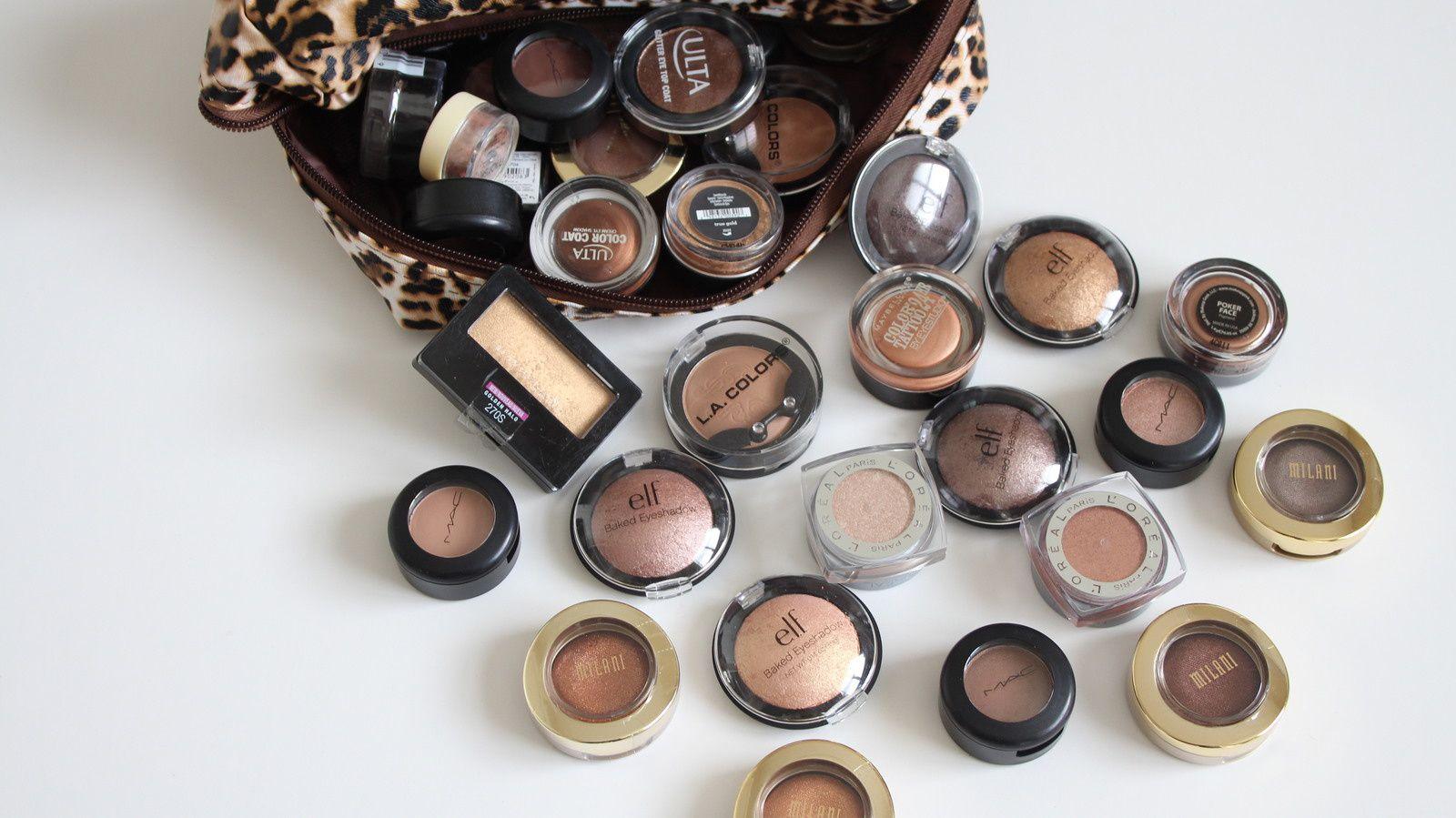 Single Eye Shadow Makeup Collection &amp&#x3B; Storage! 2017