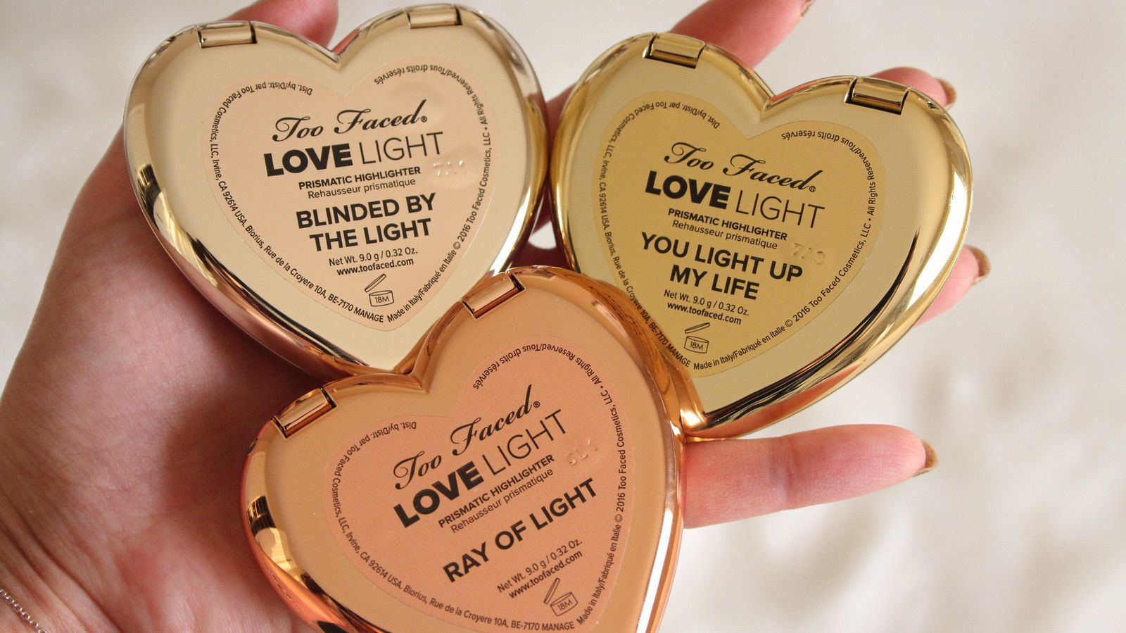 Hit Or Miss Too Faced Love Light Prismatic Highlighters