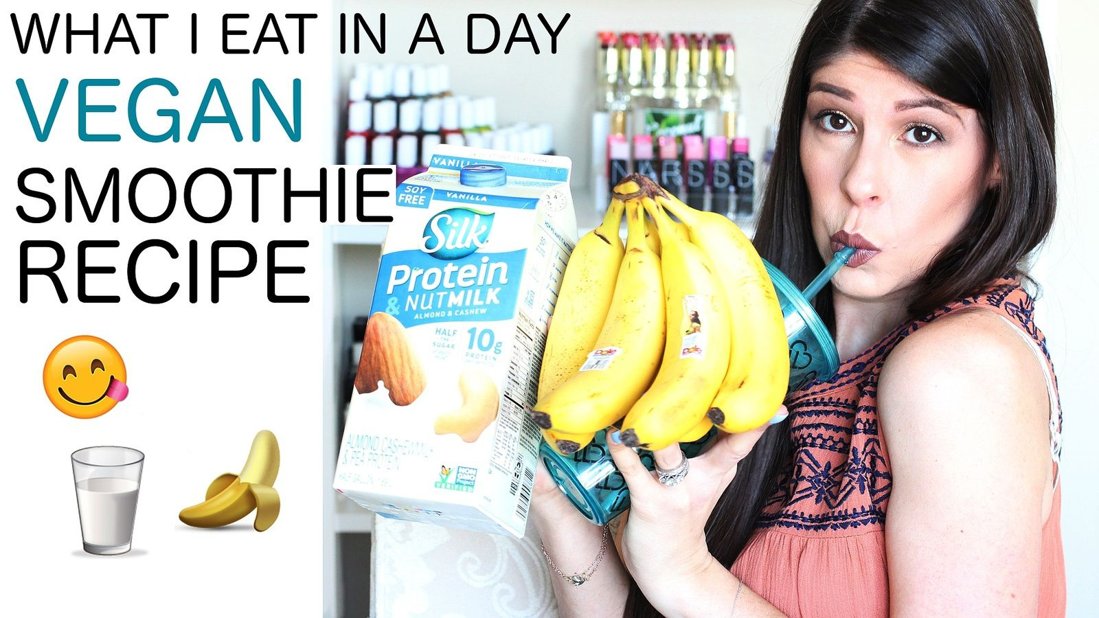 What I Eat in a Day | Healthy Vegan Smoothie Recipe!