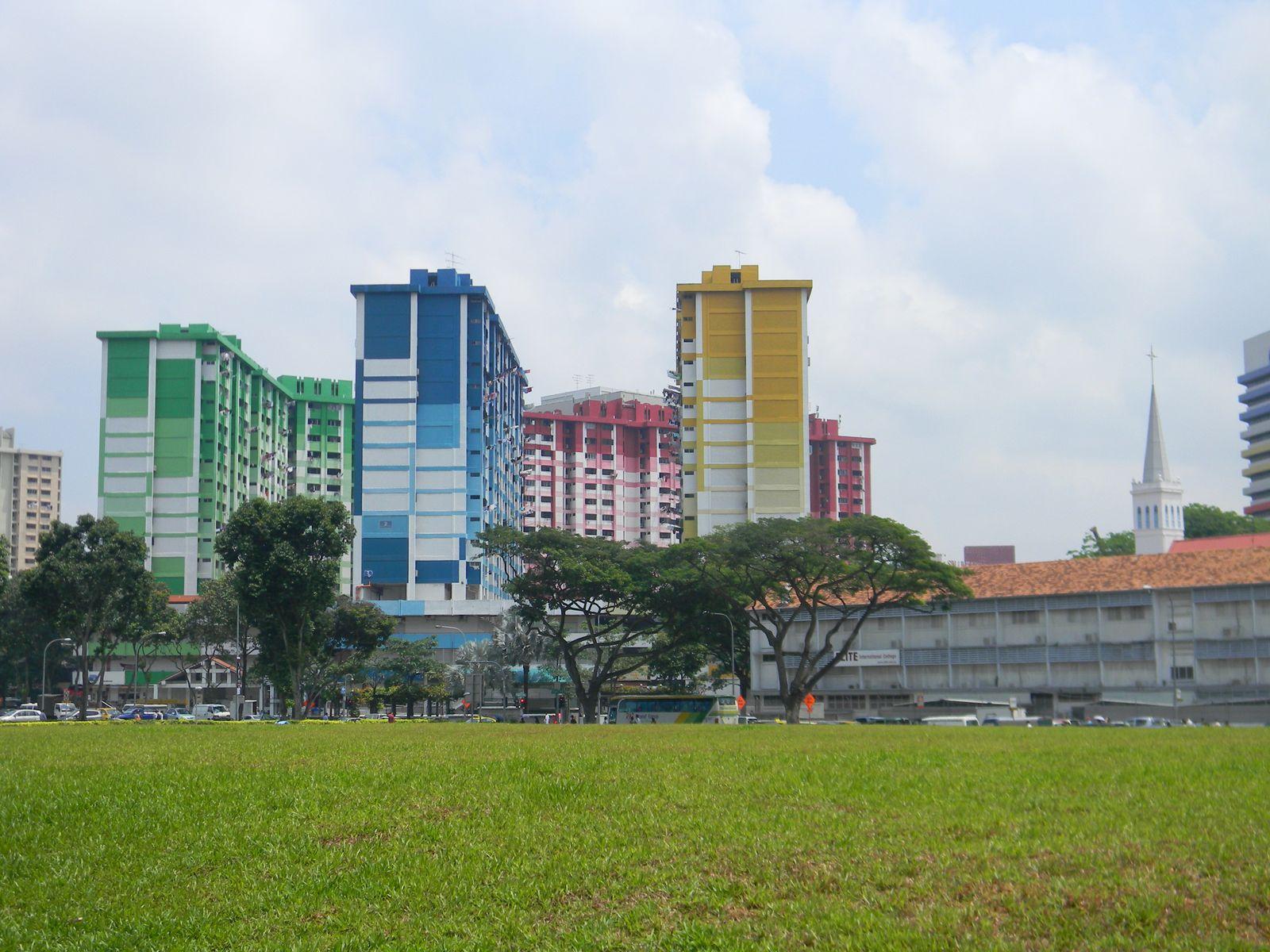 Quelques buildings et immeubles d'habitation.