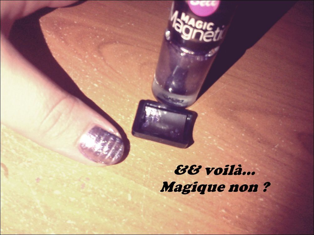 Mon vernis Magic Magnetic !